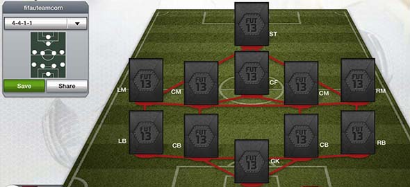Ultimate Team Formations - 4-4-1-1