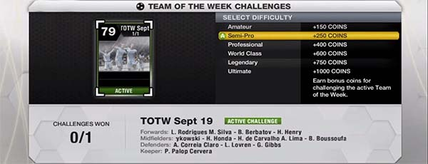 FUT 13 TOTW Challenge - Earning Coins
