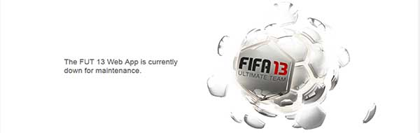 FIFA 13 Ultimate Team Maintenance