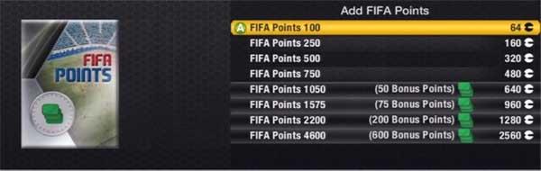 FIFA 13 Ultimate Team - FIFA Points
