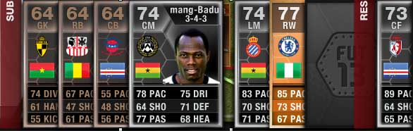 Team of the Tournament da CAN 2013 em FIFA 13 Ultimate Team - Subs
