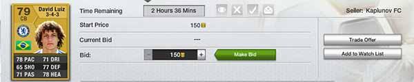 FIFA 13 Ultimate Team Trading