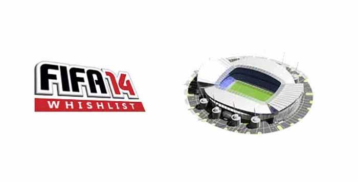 Lista de Desejos para FIFA 14: Que Novos Estádios a Comunidade Quer