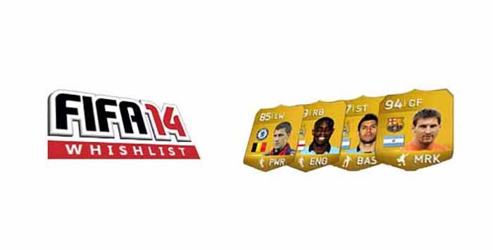 Lista de Desejos para FIFA 14: Novos Ratings de Jogadores