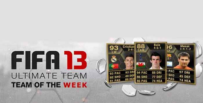 Equipas da Semana de FIFA 13 Ultimate Team (TOTW)