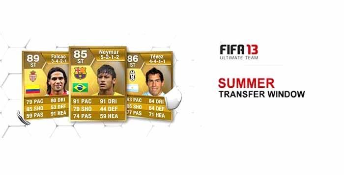 Transferências de Verão - Novas Cartas FIFA 13 Ultimate Team