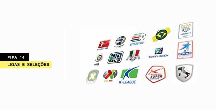 Equipas de FIFA 14 - Todas as Ligas e Seleções Nacionais de FIFA 14