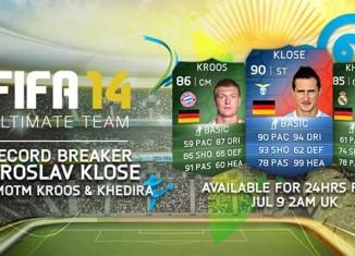 Atribuída carta especial de FUT 14 a Miroslav Klose