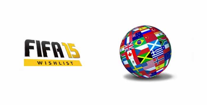 Lista de Desejos para FIFA 15: Novas Ligas