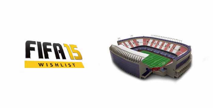 Lista de Desejos para FIFA 15: Novos Estádios