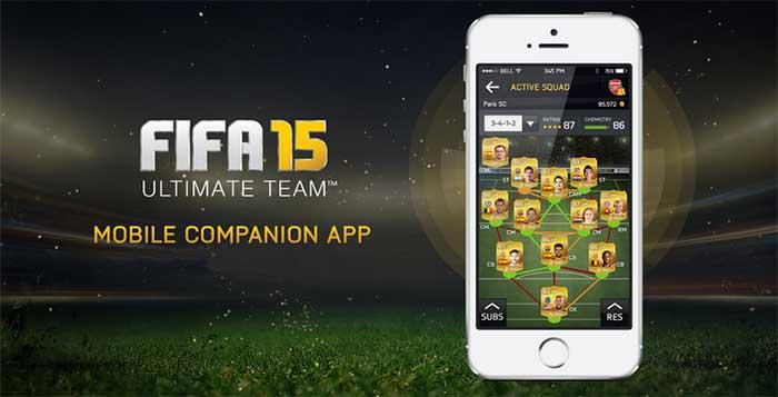 Companion App de FIFA 15 para iOS, Android e Windows Phone