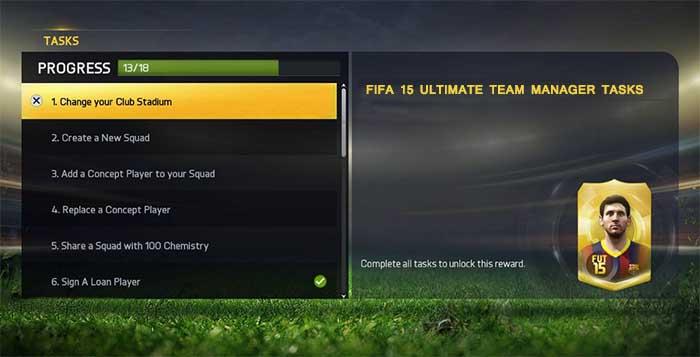 Guia Básico das Manager Tasks em FIFA 15 Ultimate Team