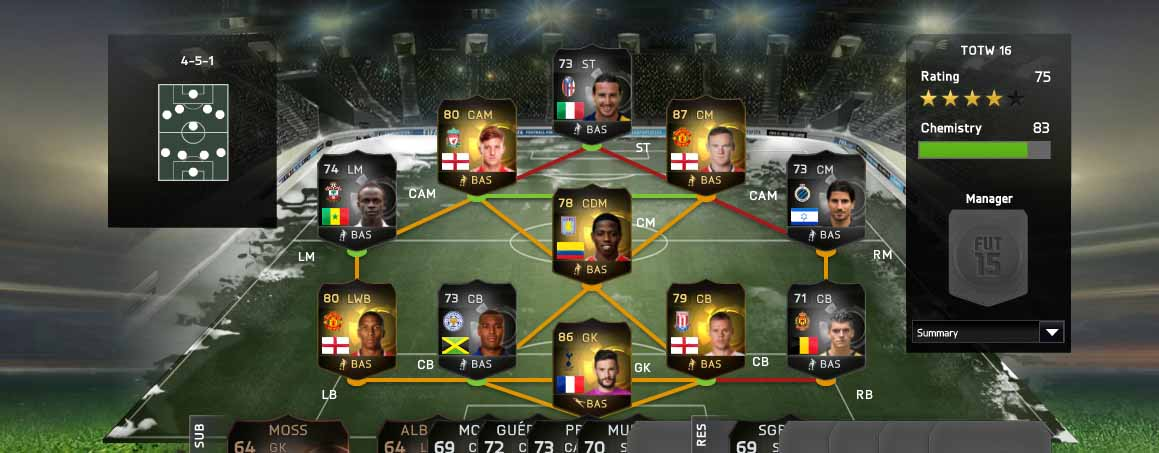 FIFA 15 Ultimate Team TOTW 16