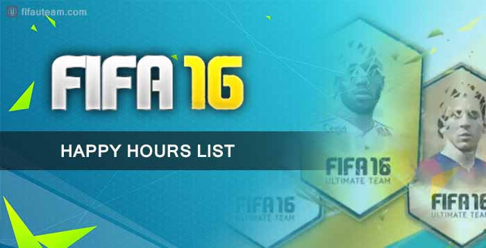 Todas as Happy Hours de FIFA 16 Ultimate Team