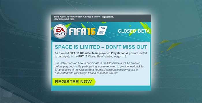 Beta Fechada de FIFA 16 Explicada
