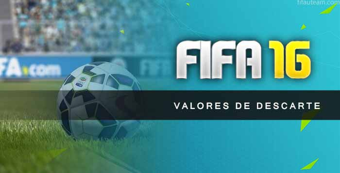 Valores de Descarte de Cartas de FIFA 16 Ultimate Team