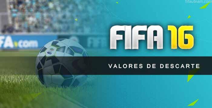 Valores de Descarte de Cartas de FIFA 16 Ultimate Team