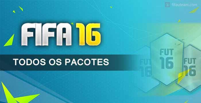 Todos os Pacotes de FIFA 16 Ultimate Team