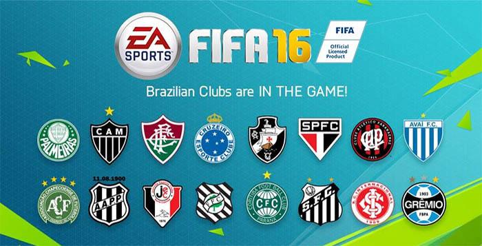 FIFA 16 Inclui Dezasseis Equipas Brasileiras