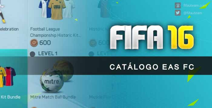 Guia do Catálogo EAS FC para FIFA 16 Ultimate Team