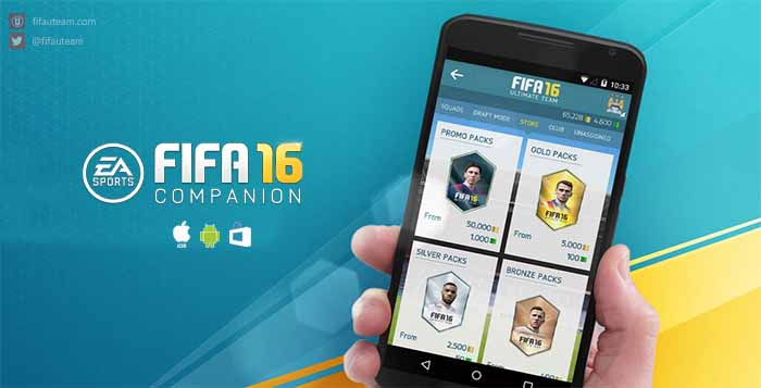 Companion App de FIFA 16 para iOS, Android e Windows Phone