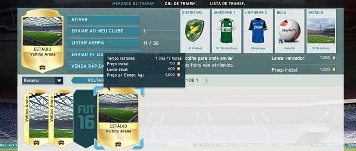 My Trade: Estádios