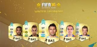 Lista de Upgrades de Inverno de FIFA 16 Ultimate Team