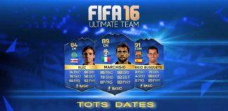 Datas das TOTS para FIFA 16 Ultimate Team