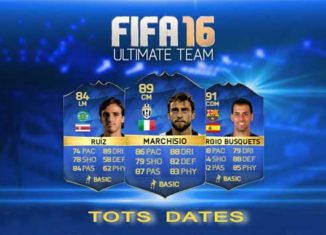 Datas das TOTS para FIFA 16 Ultimate Team