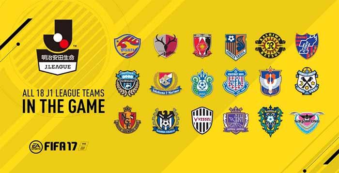 Liga Japonesa J1 League Incluída em FIFA 17