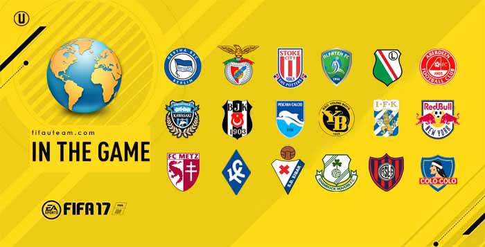 Ligas, Equipas e Seleções Nacionais de FIFA 17