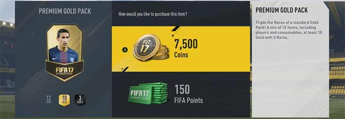 FIFA Points Prices for FIFA 17 Ultimate Team