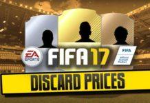 Preços de Venda Rápida das Cartas de FIFA 17 Ultimate Team
