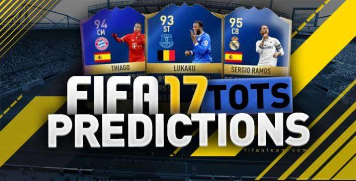 Previsão de Todas as Team of the Season de FIFA 17