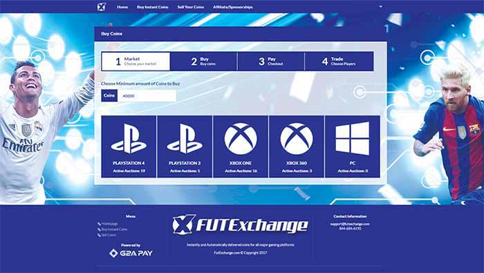 Review de FUT Exchange - Compra e Venda de Moedas