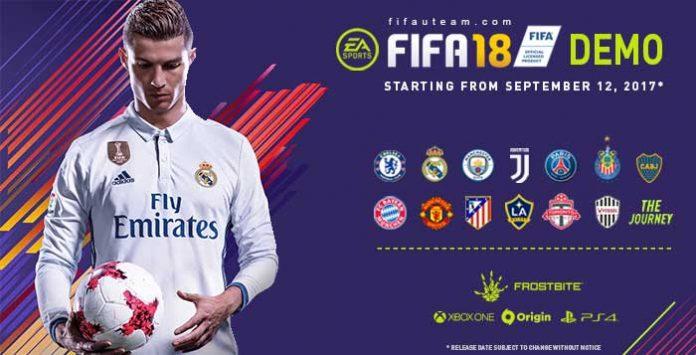 Demo de FIFA 18 - Data, Equipas e Outros Detalhes