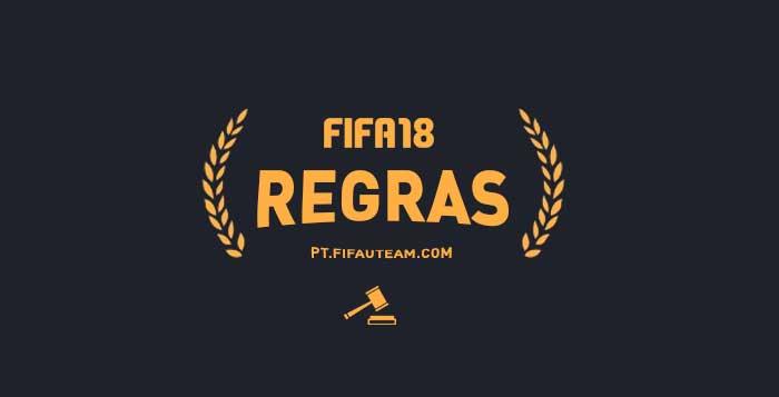 Regras de FIFA 18 - Conduta, Recomendações e Sanções