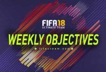 Lista de Objetivos Semanais e Premiações para FIFA 18