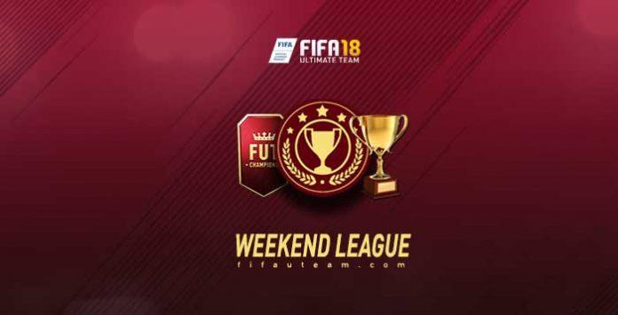 Calendário do Weekend League para FIFA 18 Ultimate Team