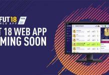 FUT 18 Web App já está Online !