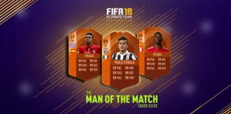 Guia de Cartas MOTM de FIFA 18 Ultimate Team