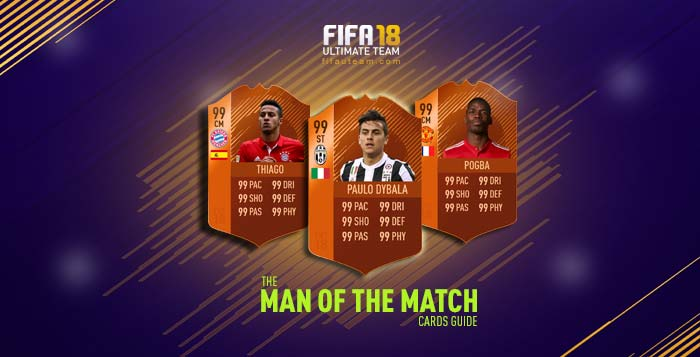 Cartas de Jogadores para FIFA 18 Ultimate Team - Cartas Man of the Match