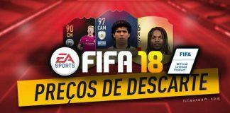 Preços de Venda Rápida das Cartas de FIFA 18 Ultimate Team