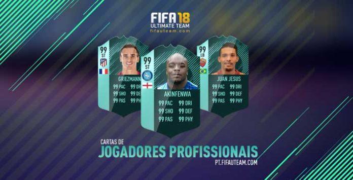 Guia de Cartas de Jogadores Profissionais de FIFA 18