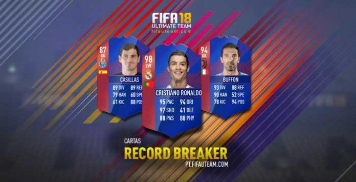 Guia de Cartas de Recordistas de FIFA 18 Ultimate Team