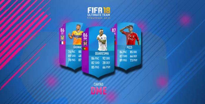 Guia das Cartas DME para FIFA 18 Ultimate Team