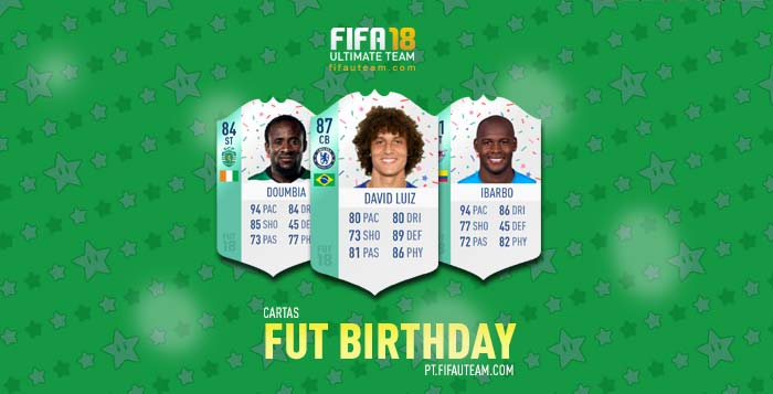 Cartas de Jogadores para FIFA 18 Ultimate Team - FUT Birthday Cards