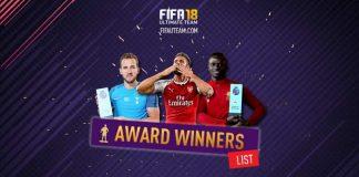 Lista Completa das Cartas Award Winner de FIFA 18 Ultimate Team
