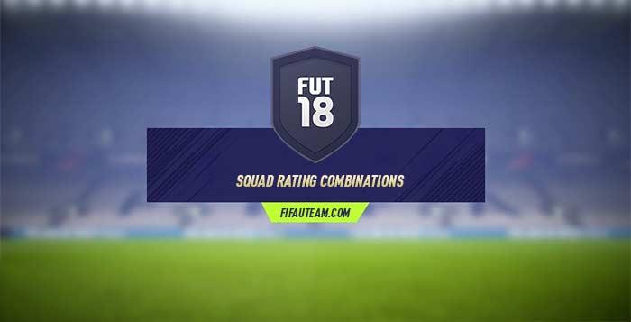 Combinações de Ratings de Equipas em FIFA 18 Ultimate Team