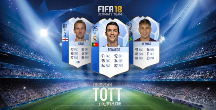 Equipa dos Torneios Europeus de FIFA 18 Ultimate Team
